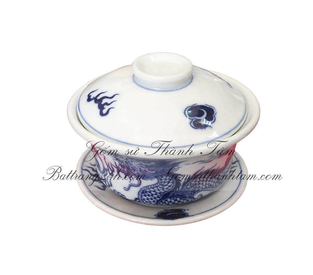 Bán thờ cúng trà sâm bằng gốm sứ Bát Tràng cao cấp đẹp mắt, bàn thờ cúng chất lượng