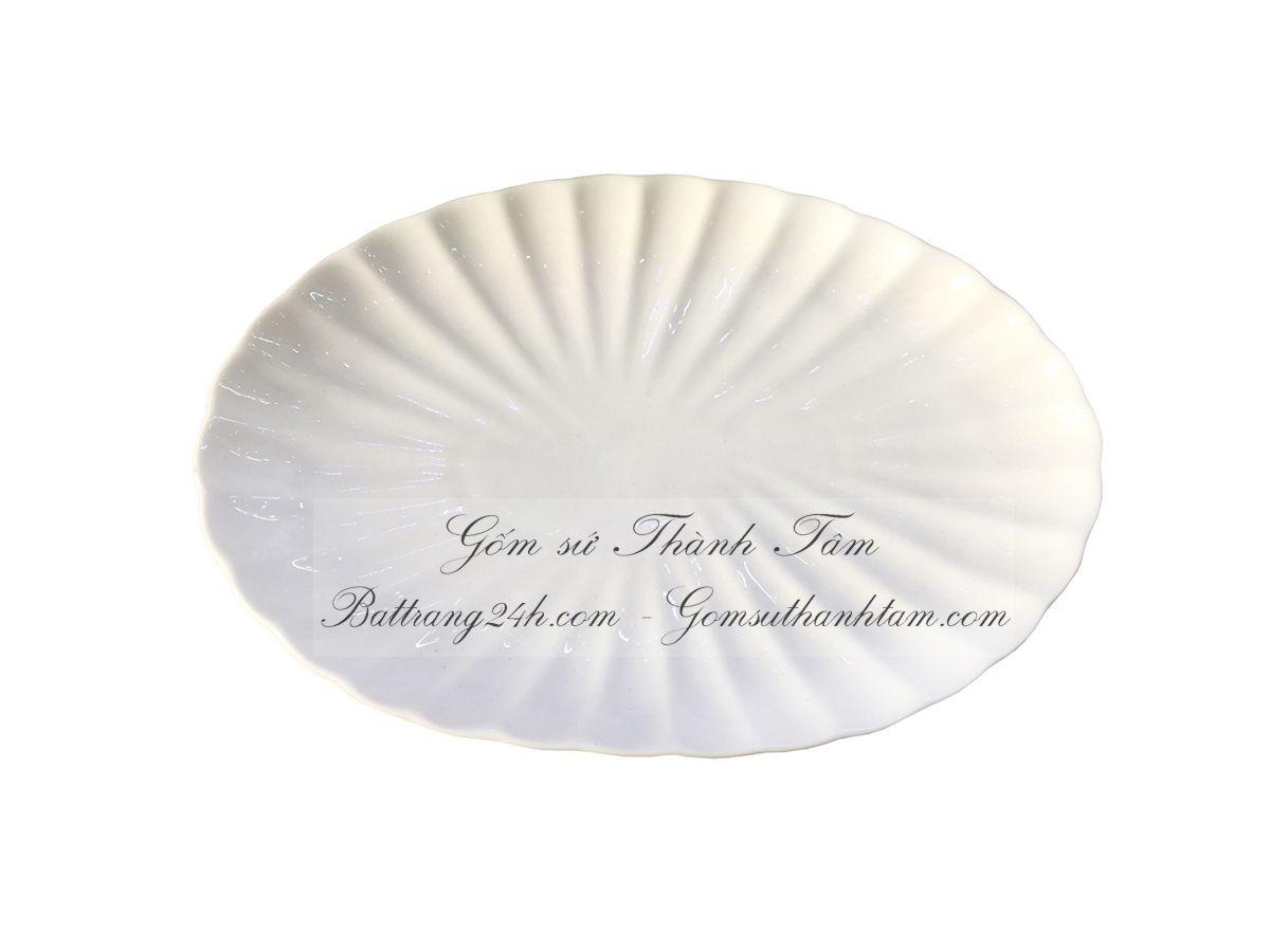 Bộ bát đĩa Bát Tràng hình bầu dục đẹp Bát Tràng Việt Nam, bộ bát đĩa giá rẻ độc đáo