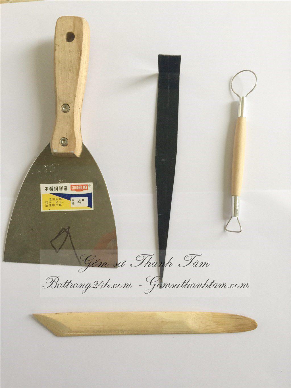 Bộ dụng cụ làm gốm sứ Bát Tràng đầy đủ chất lượng, dụng cụ làm gốm giá rẻ
