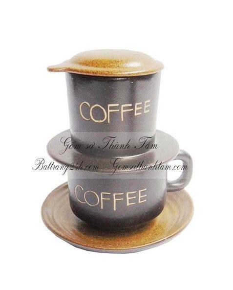 Bộ phin cafe gốm sứ Bát Tràng dùng trong gia đình, văn phòng tiện lợi, bộ phin café giá rẻ