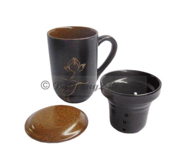 Cốc lọc trà gốm sứ  Bát Tràng men nâu gốm đẹp mắt, cốc lọc trà giá thành tốt nhất