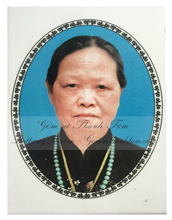 In ảnh bia mộ bằng gốm sứ Bát Tràng đẹp, bia mộ bền màu giá rẻ toàn quốc ở Hà Nội