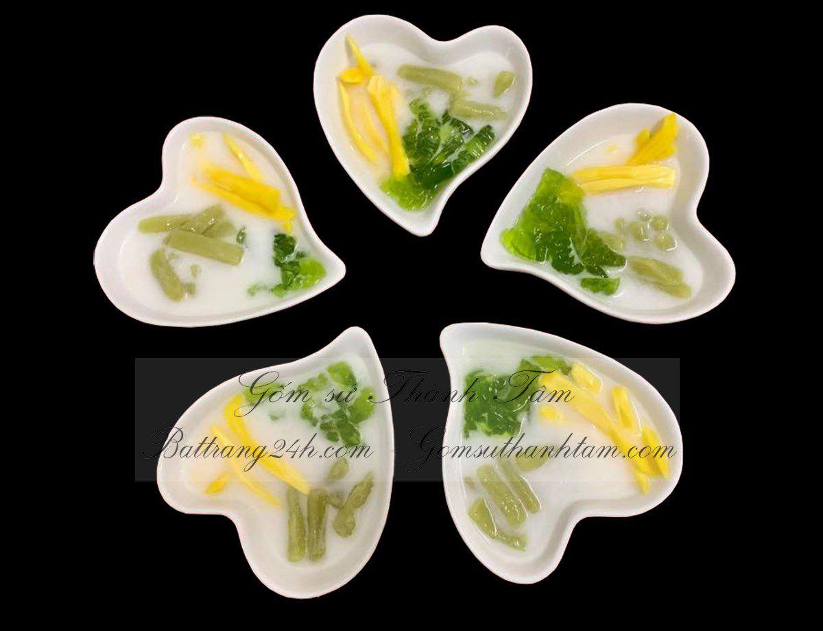 Mua bộ bát đĩa gốm sứ Bát Tràng cao cấp gốm sứ Bát Tràng đẹp mắt giá rẻ, bộ bát đĩa chất lượng mẫu trái tim đẹp mắt