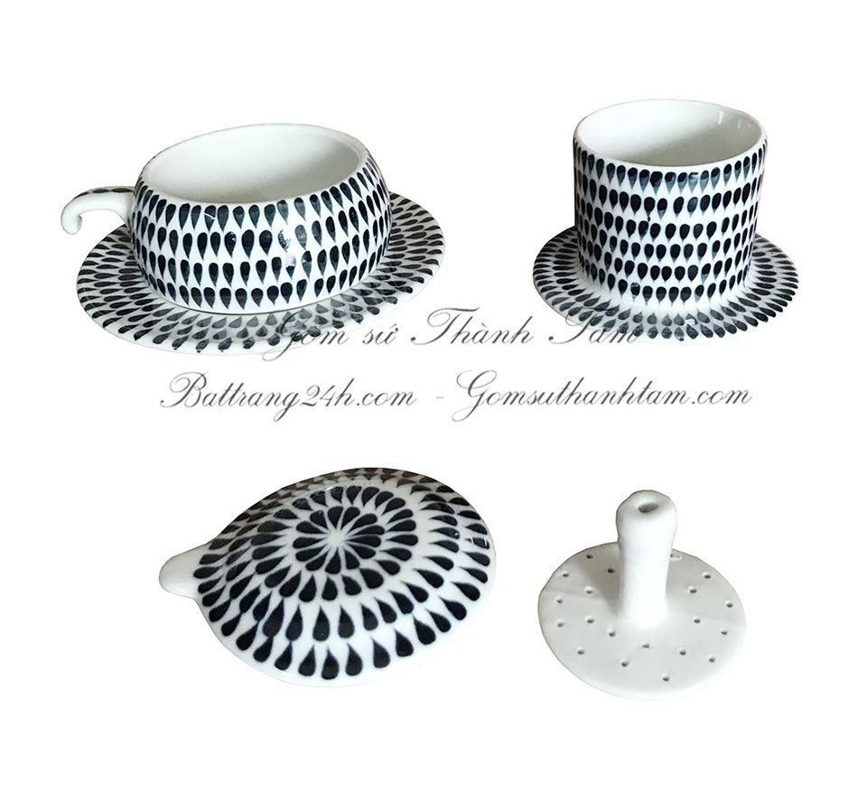Mua phin lọc café gốm sứ Bát Tràng giá rẻ cao cấp in logo, phin lọc café quà tặng ở đâu