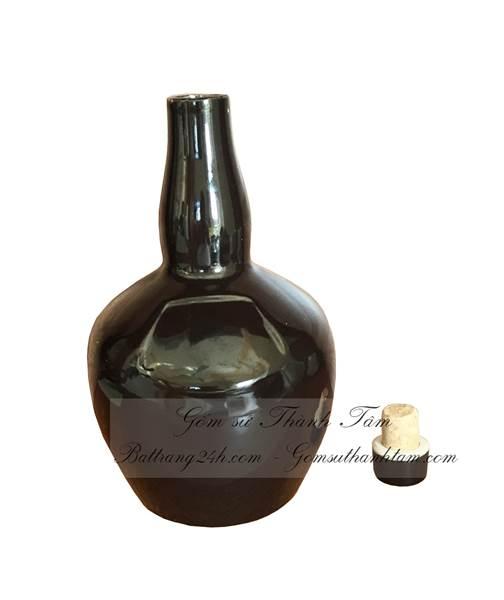 Bình sứ đựng rượu dung tích 0,75l và 1l