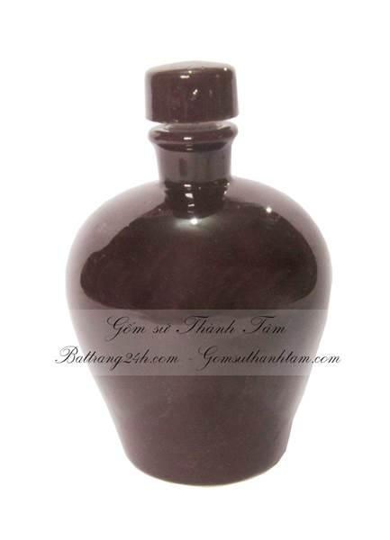 Nậm rượu 1 màu sơn bóng cổ thấp cao cấp